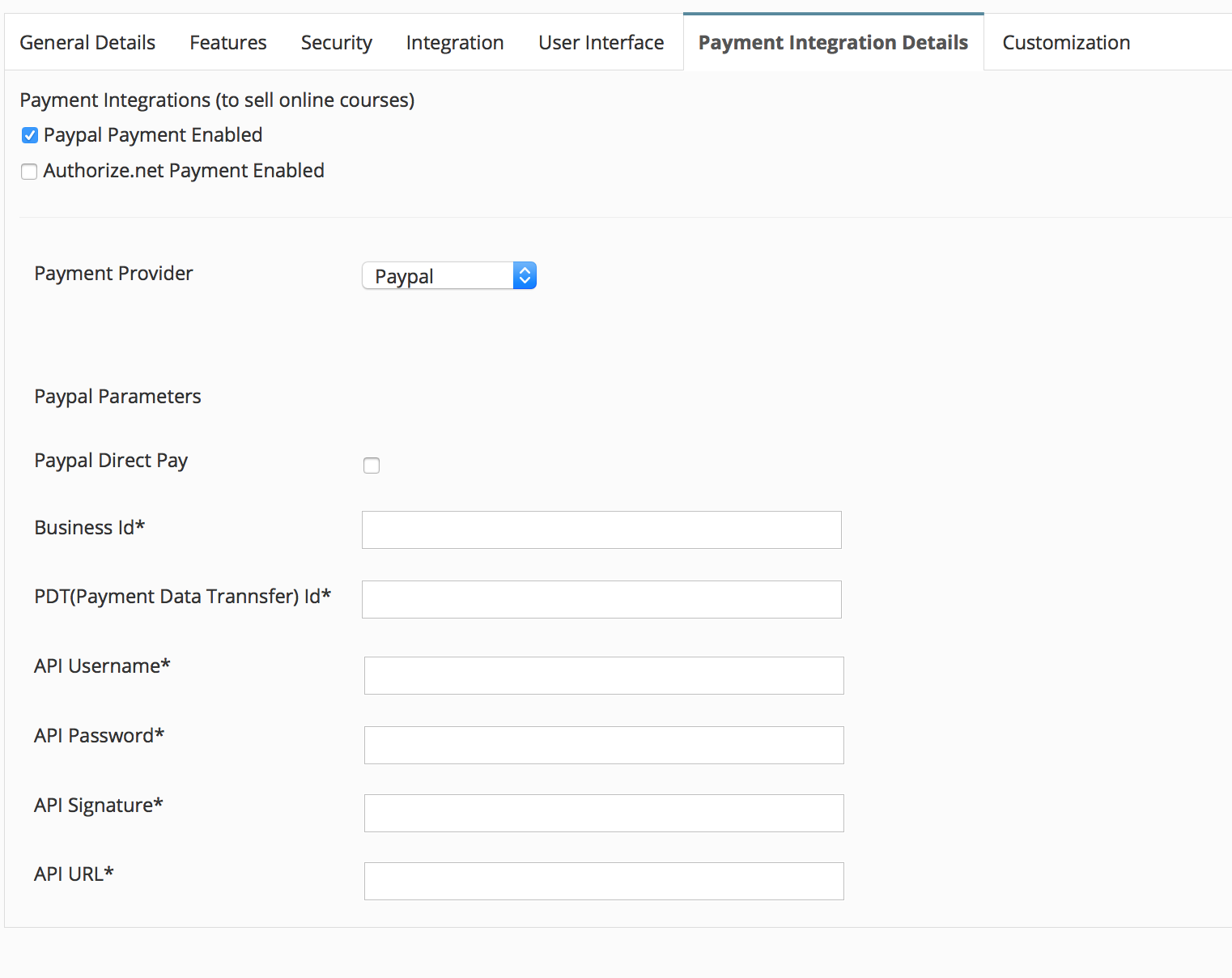 Link Paypal Account to Microsite
