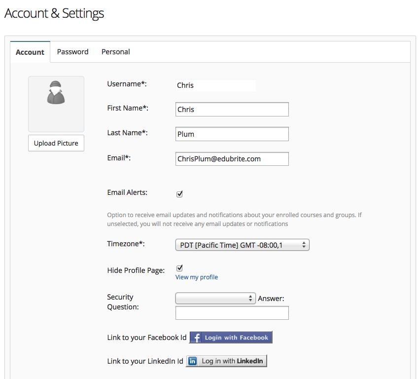 Dashboard, User Profile