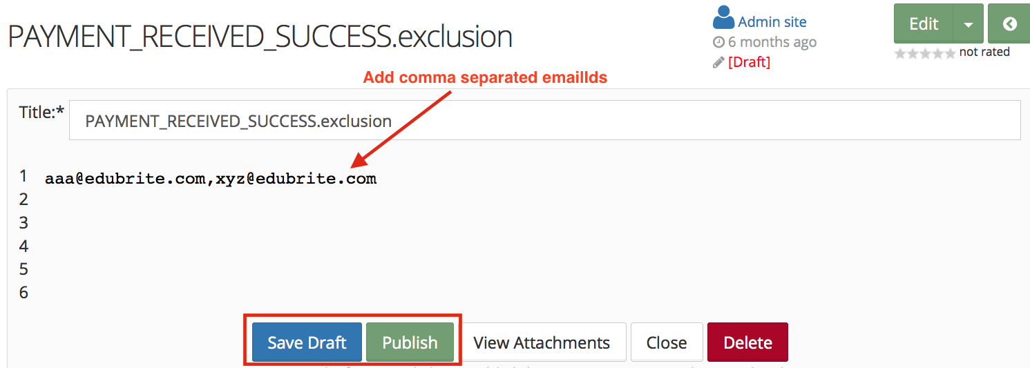 Site Email Configuration
