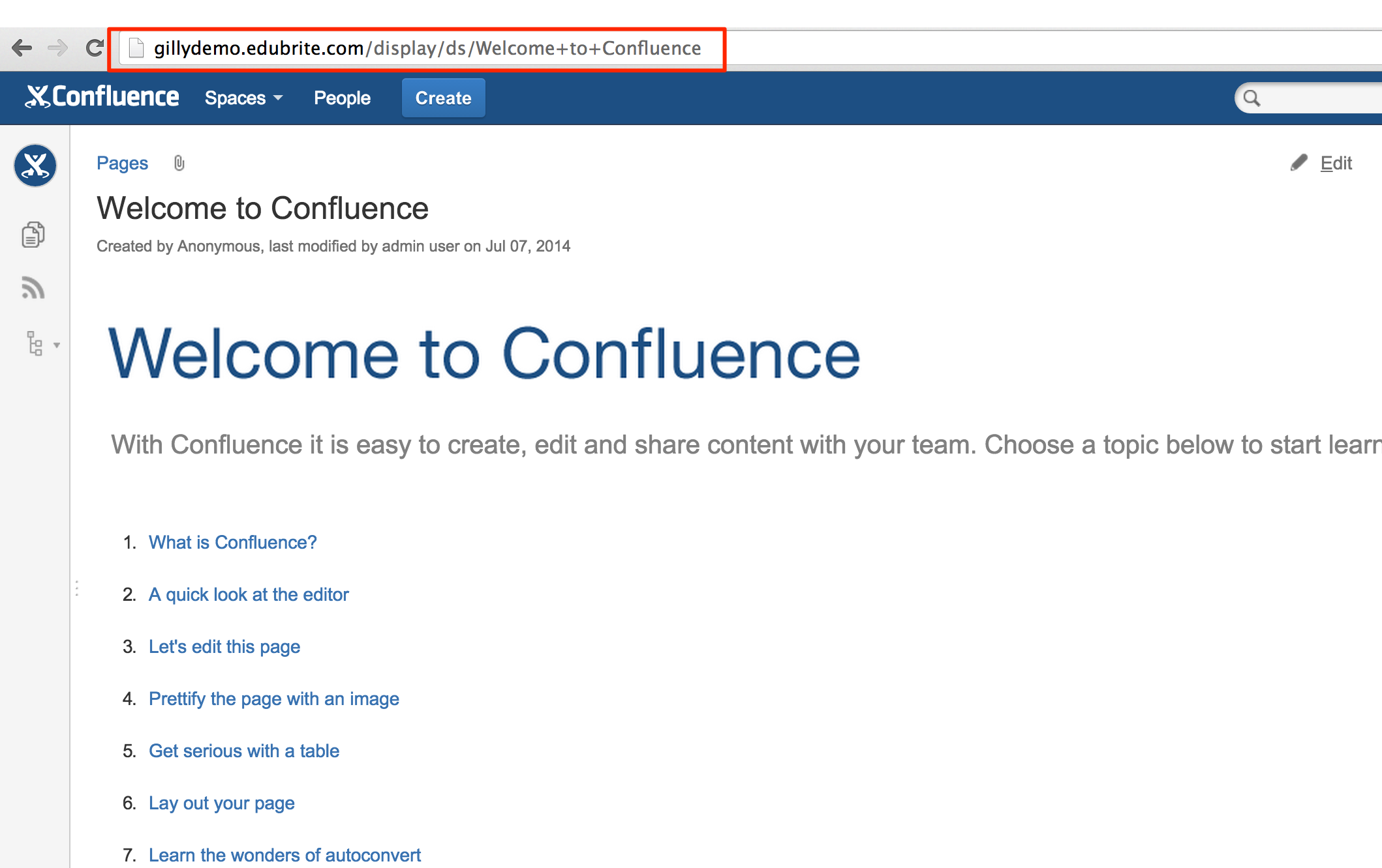 Embed Confluence Pages in a Course